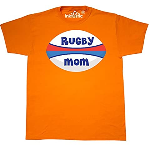 Inktastic - Rugby Mom sports T-Shirt XX-Large Safety Orange - 761 Rugby
