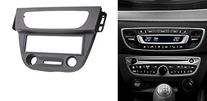 CARAV 11-152 1-DIN Marco de plástico para Radio para Renault Megane III 2008-2016, Fluence 2010+ (Dark Gray): Amazon.es: Electrónica