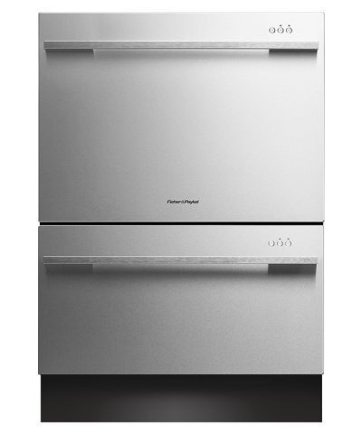 "DishDrawer Tall Series DD24DDFTX7 24"" Semi-Integrated Dishwasher with 14 Place Settings 9 Wash Cycles Adjustable Racks Eco Option Energy Star Approved in EZKleen Stainless"