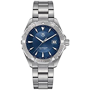 TAG Heuer Men's Swiss Quartz Stainless Steel Casual Watch, Color:Silver-Toned (Model: WAY1112.BA0928)