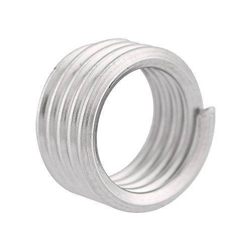 100 St/ück M2,5 SS304 Edelstahl Spiraldraht Spiralgewindeeins/ätze f/ür Aluminium Gewindeeins/ätze Magnesium usw M2.5 * 0.45 * 2D