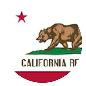 alfombrilla de ratón Bandera de California - ronda - 20cm