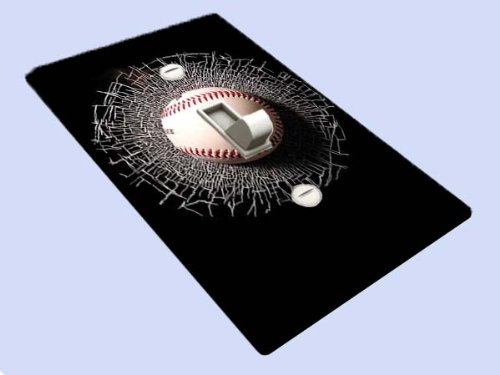 Baseball Smash Switchplate - Switch Plate Cover