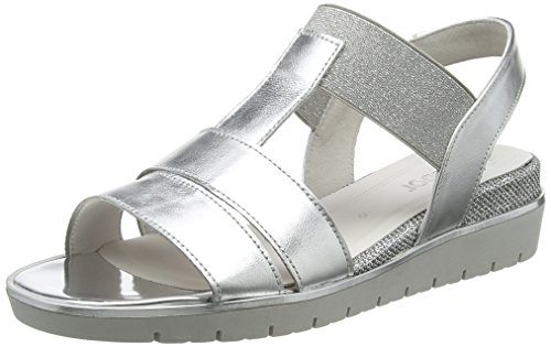 Gabor Women's Basic Ankle Strap Sandals Multicolor (Silber) clearance online official site popular online exclusive choice cheap price o22MT