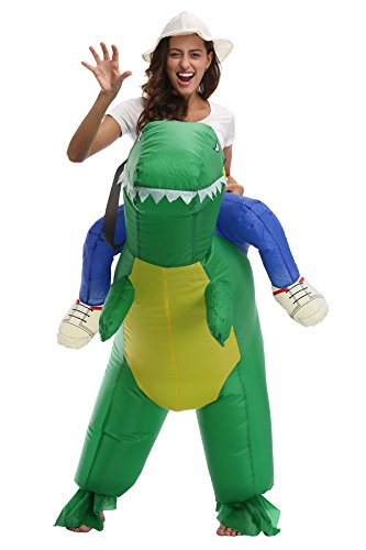 Adult Kids Inflatable Dinosaur Costume Riding On Animal Halloween Fancy Dress Up (7 Other Roles) (Quick Delivery Costumes)