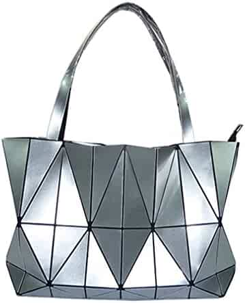 803be55b2ea0 New Diamond Women Bag Geometry Totes Sequins Mirror Saser Plain Folding Bags  Handbag Bao Bag Shoulder