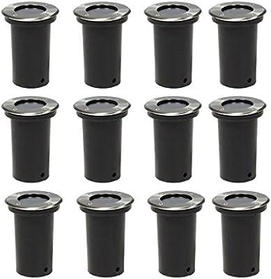 Luckyfu Juego de focos empotrables cuadrados, 12 unidades, para jardín, farolillos de jardín, exteriores, farolillos, exteriores, lámpara de jardín: Amazon.es: Iluminación
