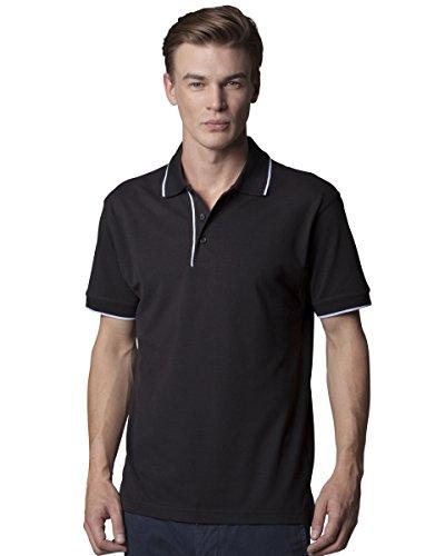 Kustom Kit Herren Essential Polo Gr. XXL, Mehrfarbig - Schwarz / Weiß