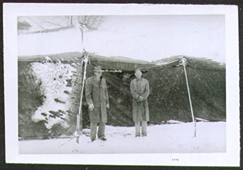 Sparks Circus workers snow covered tent photo 40s - Sparks Circus