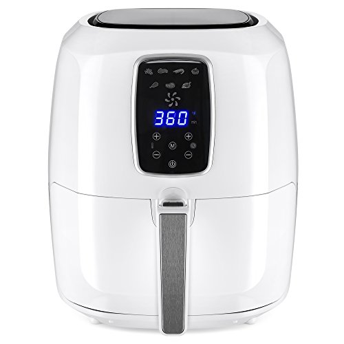 Best Choice Products 5.5qt 7-in-1 Electric Digital Family Sized Air Fryer Kitchen Appliance w/LCD Screen, Non-Stick Coating, Temp Control, Timer, Removable Fryer Basket – White