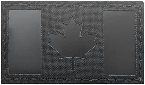 Blackout Infrared IR Canada Flag 3.5x2 IFF Tactical Morale Hook/&Loop Patch
