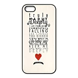 One Direction Quotes iPhone 5,5S Case Cover, One Direction Quotes Personalizedized Phone Case, iPhone 5,5S Personalized Case