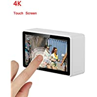 OnReal 4K Action Camera 2.45 inch Touch screen Full HD WiFi Underwater Camera White Color with 170 Degree Wide Angle Lens and 2.4G Hz Remote Control Watch