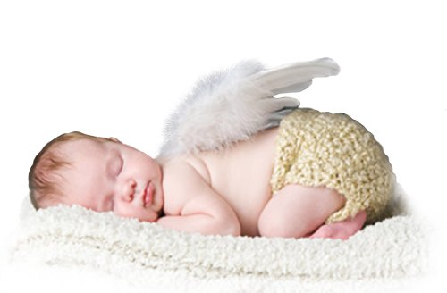 Baby Girls Angel Wings Wing Set Feather Newborn Photography Props - - 8