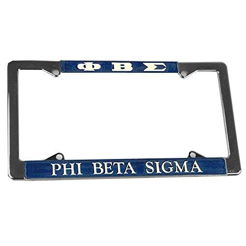 License Beta Plate Sigma Phi (Express Design Group Phi Beta Sigma Chrome License Plate Frames)