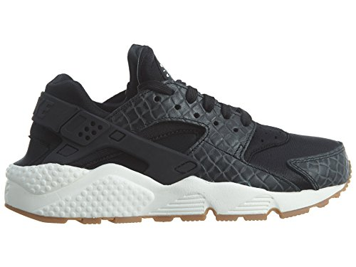 Nike Damen Air Huarache Run Premium Schwarz (Black/Sail/Medium Brown)