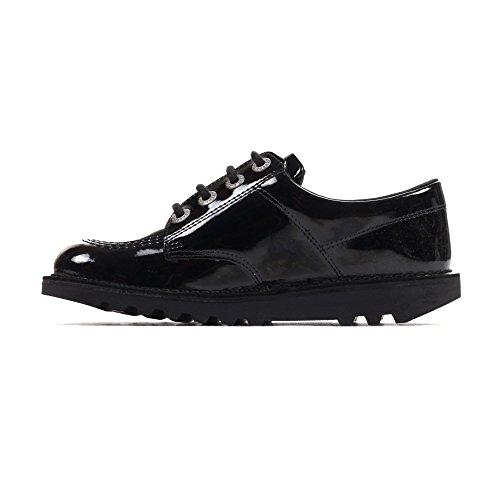 Chaussures Enfants Classique Cuir Filles Lo Noir Verni Kickers Kickers École 0qUw6w