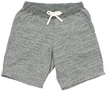 SWEAT GYM SHORT 12oz LT WEIGHT FRENCH TERRY - HEATHER CHARCOAL
