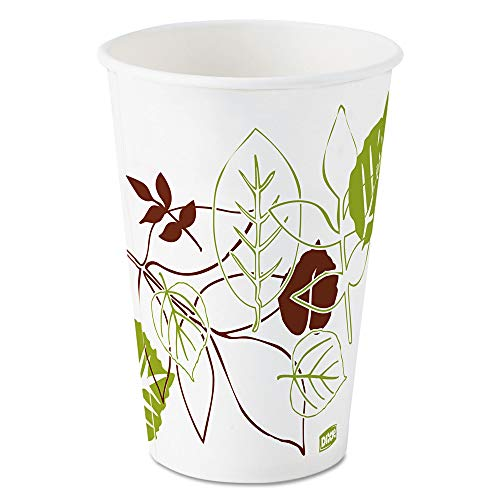 Dixie Paper Cold Cups, 12 Oz, Pathways, Carton Of 1200 -