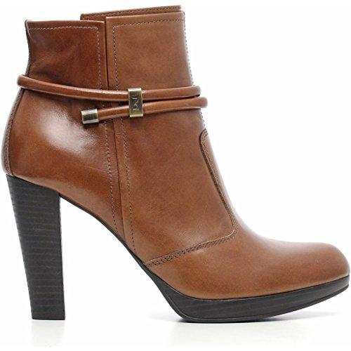 Nero Giardini - Zapatos de vestir de Piel para mujer Manolete Cuoio