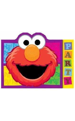 Sesame Street Elmo Invitations 8 -