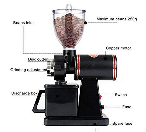 Binglinghua 250g Electric Coffee Bean Grinder Espresso Spices Nuts Herbs Grinder (black) by Binglinghua (Image #1)