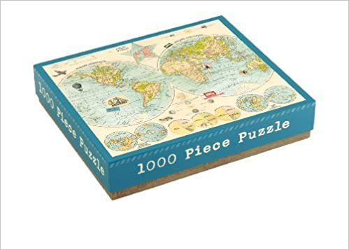 Map of the World 1000 Piece Puzzle Puzzle Puzzle by Galison (2011-12-01) 6c4c96