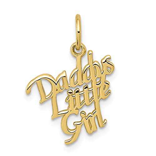 ICE CARATS 10kt Yellow Gold Daddys Little Girl Pendant Charm Necklace Fine Jewelry Ideal Gifts For Women Gift Set From Heart