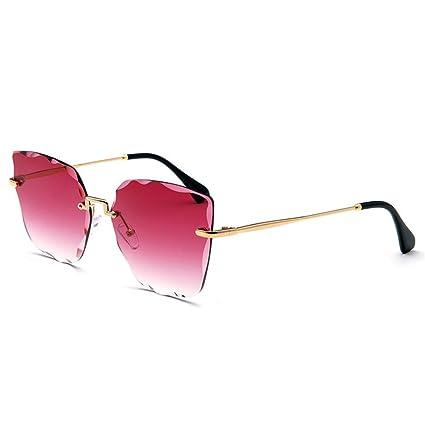 WFHhsxfh Nuevas Gafas de Sol sin Montura de Color Cristal ...