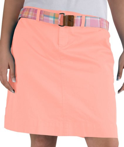Coral Monomoy Solid Twill Skirt - 19 Inches - (16, Coral)
