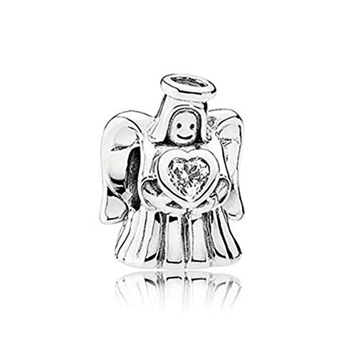 SUNWIDE Guardian Angel Lucky Charm fit Pandora Charms Bracelets (Bobby Bot) (Guardian Angel Charms For Men)