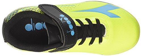 Diadora 7-Tri TF Jr Ve, Zapatillas de Fútbol Para Niños Amarillo (Giallo Fl Blu Fl Nero)
