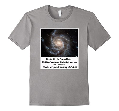 Men's Pinwheel Galaxy Hubble Telescope Pictures Astronomy TShirt Medium Slate