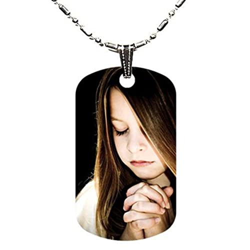 LGU (TM) Clear UV Dome Shape UV Coated Full Color Custom Personalized Aluminum Dog Tag Picture Pendant with Necklace (24 Inches)