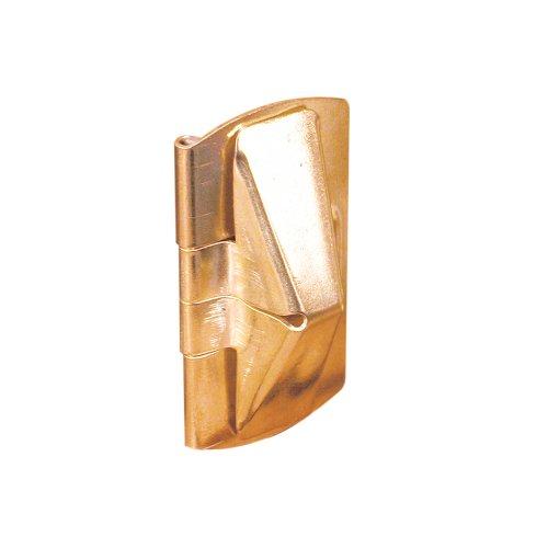 Defender Security U 9938 Wood Window Flip Lock, Brass Plated Steel,(Pack of 2) ()
