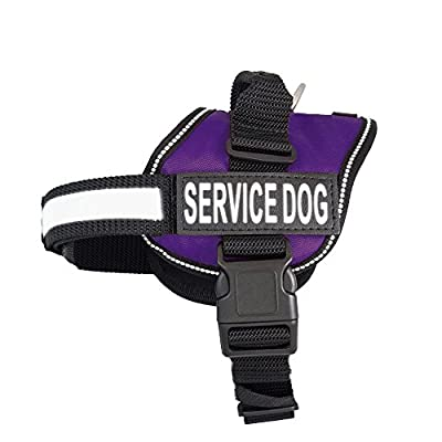 Service Dog Harness Vest Comes with 2 reflective SERVICE DOG Velcro patches. Please measure dog before ordering