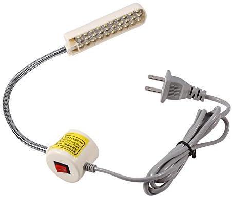 30 LED luz de máquina de coser, AC 110 V-240 V, interruptor de montaje magnético luz de máquina de coser, estudio de luz de trabajo de máquina de coser, torres, taladros de columna, establecimientos