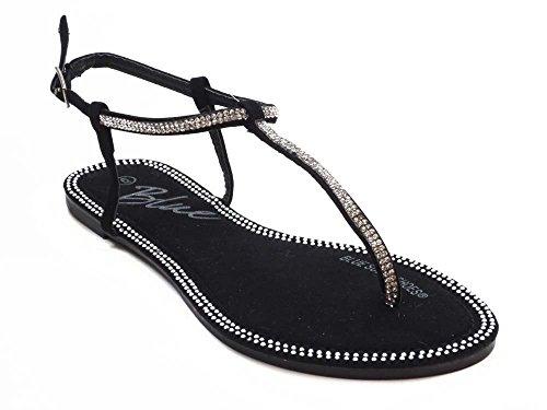 6 10 Fashion Ladies Fashion Black Sandals TRIPZY Sandals Ladies Size Blue Blue TRIPZY BvBU0P