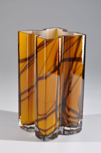 bauhaus kunst vase glas murano wohnen deko handarbeit kunstepoche
