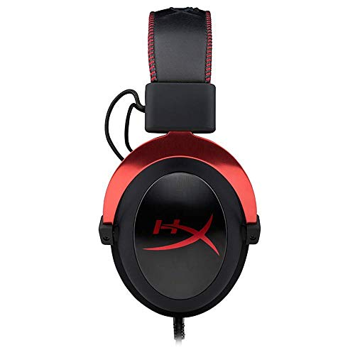 HyperX Cloud II 7.1 Virtual Surround Sound Gaming Headset with Advanced USB Audio Control Box - Red