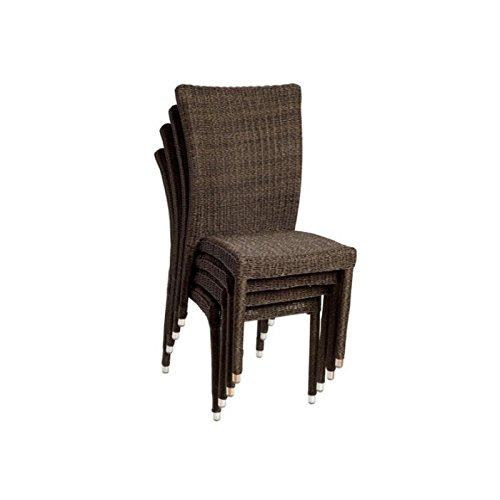 International Home Miami Atlantic Set of 4 Side Chair in Dark Brown