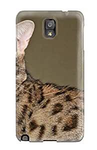 First-class Case Cover For Galaxy Note 3 Dual Protection Cover Savannah Cats