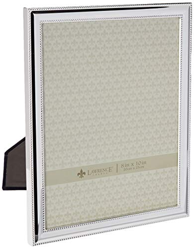 - Lawrence Frames Metal Picture Frame Silver-Plate with Delicate Beading, 8 by 10-Inch