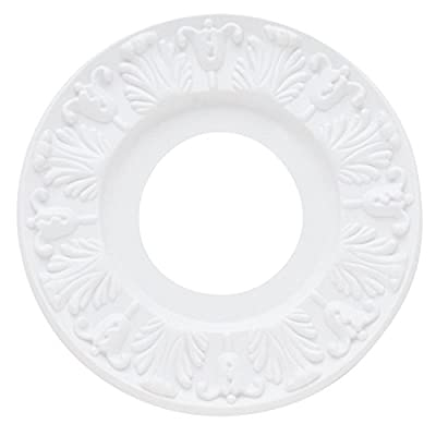 "Westinghouse 7702700 Victorian Ceiling Medallion, 10"", White Finish"