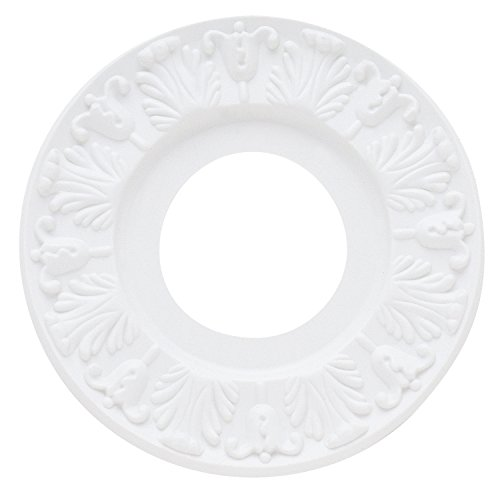 """Westinghouse 7702700 Victorian Ceiling Medallion, 10"""", White Finish"""