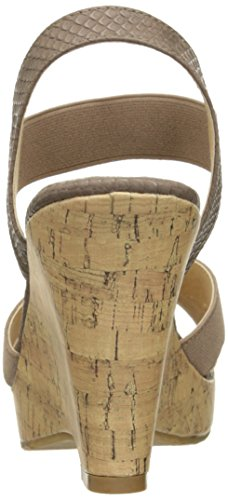 Cl Di Lavanderia Cinese Wizz Izzy Wedge Pump Sandalo Taupe Gore-snake