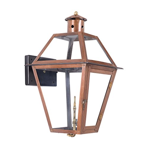 Alumbrada Collection Grande Isle Outdoor Gas Wall Lantern In Aged Copper