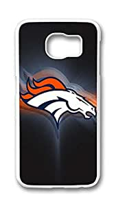 Samsung Galaxy S6 Case,Logo Series Customize Ultra Slim Broncos 2 Hard Plastic PC White Case Bumper Cover for S6
