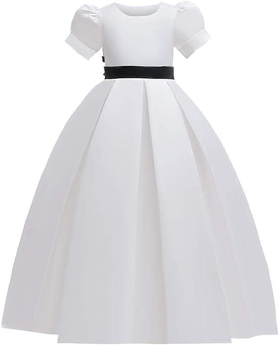 TwoCC Niñas Elegante Vestido de Gala Princesa Dama de Honor ...