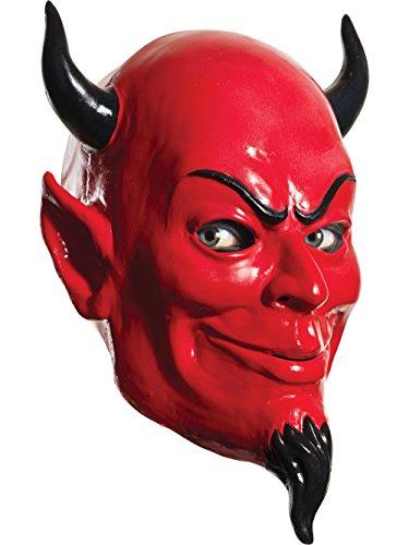 Rubie's Scream Queens Deluxe Overhead Latex Devil Mask (Scream Queens Red Devil Mask For Sale)